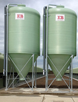 fibreglass centre discharge silos