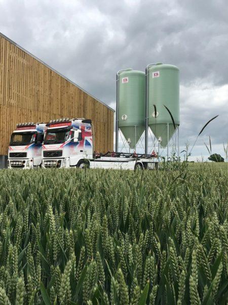 pig feed silos