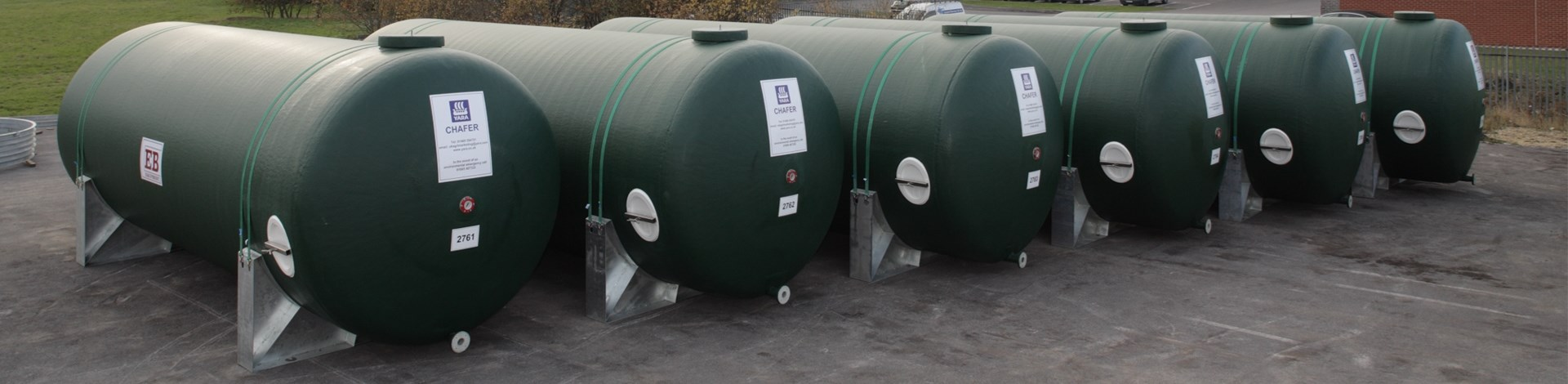 horizontal fibreglass tanks